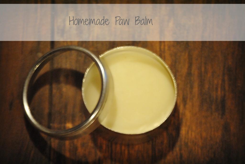 Homemade paw balm