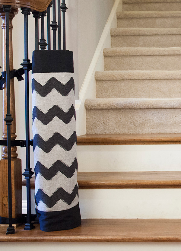 The stair barrier a better option for bottom of
