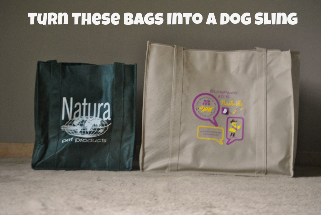 DIY dog sling using reusable bags