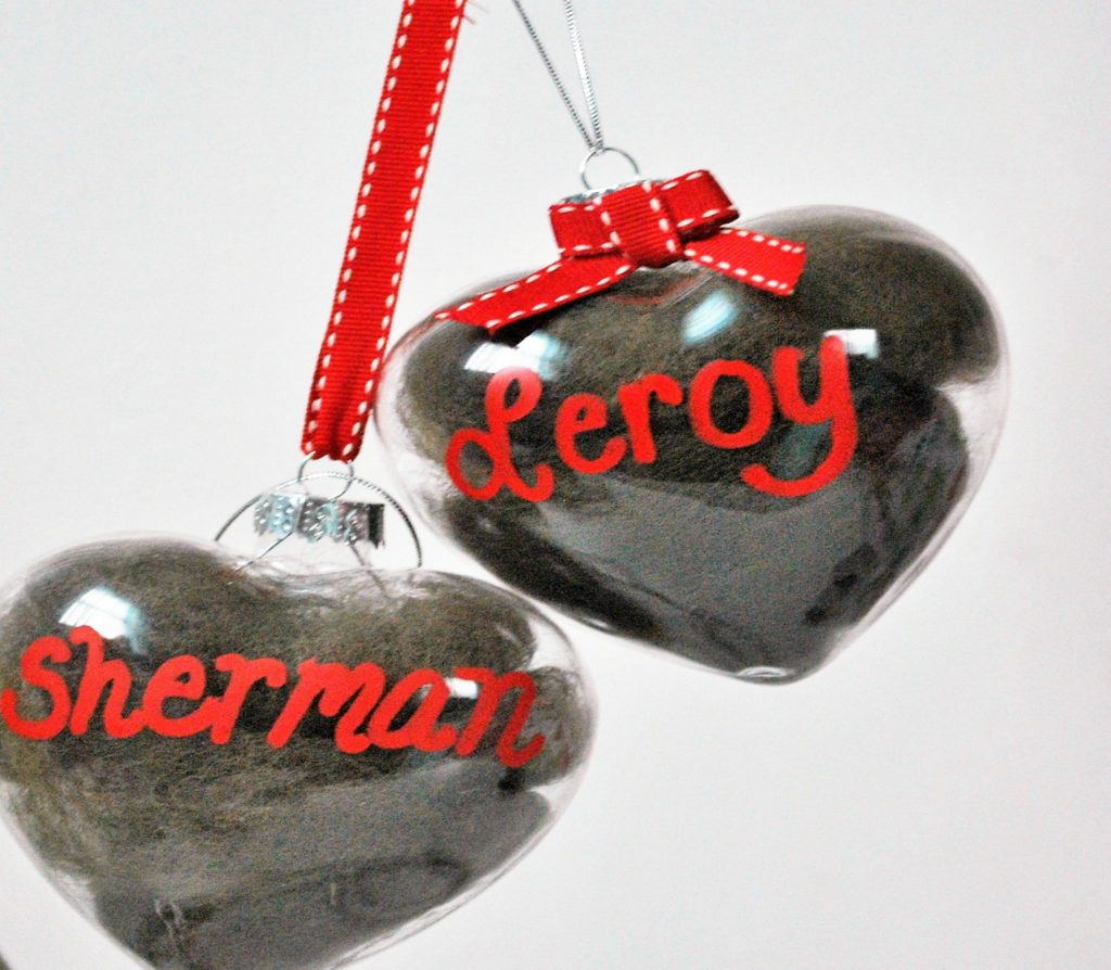 DIY keepsake heart dog ornament