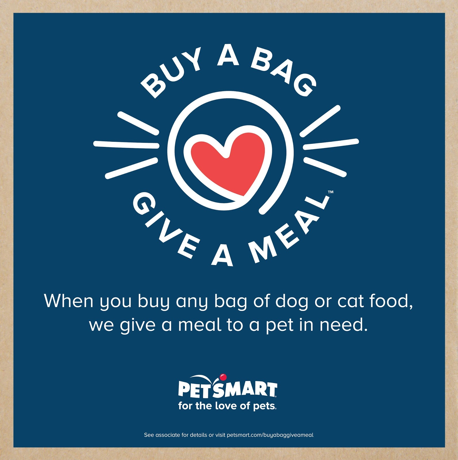 Help PetSmart Help Pets In Need. Buy a Bag, Give a Meal