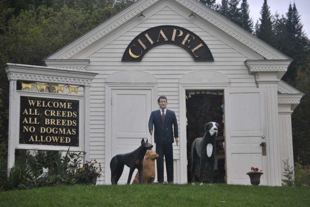 The Dog Chapel at Dog Mountain in Vermont