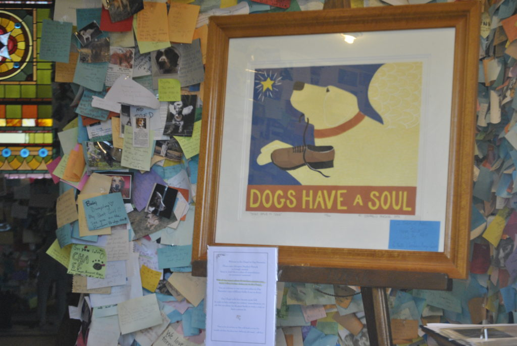 Inside the Dog Chapel at Dog Mountain in Vermont