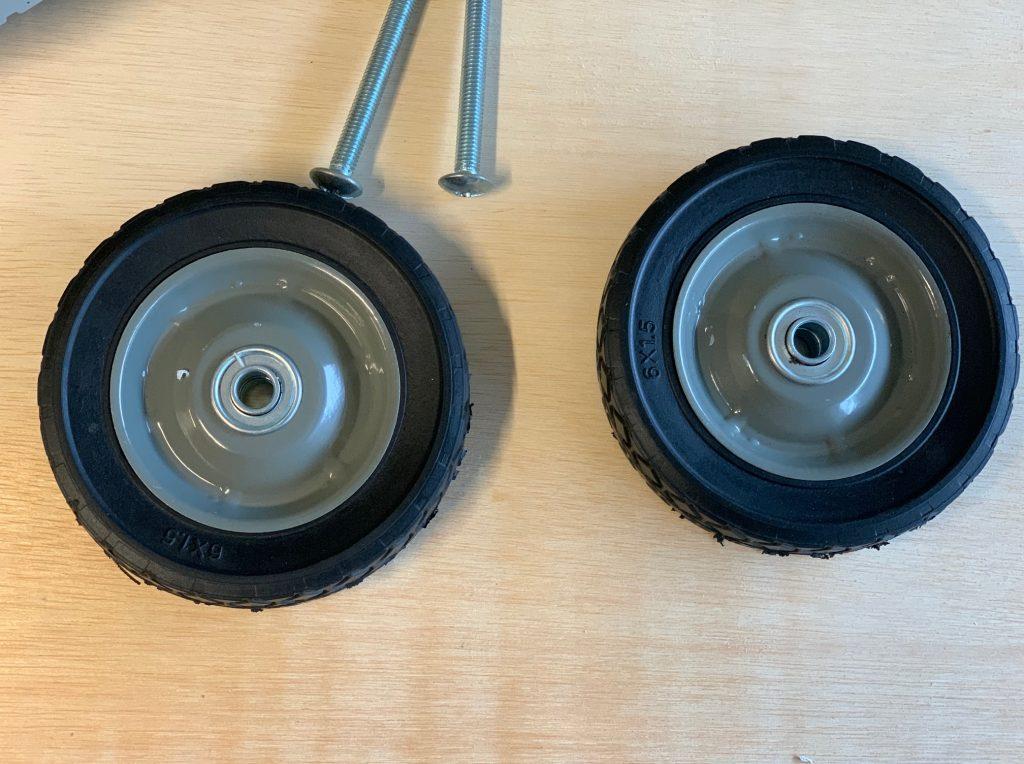 lawn mower wheels for grooming table
